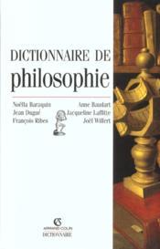 Dictionnaire De Philosophie ; 2e Edition - Couverture - Format classique