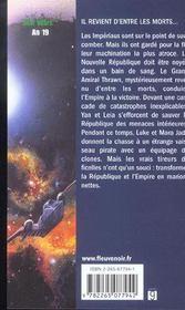 Star Wars t.33 ; la main de thrawn t.1 ; le spectre du passé - 4ème de couverture - Format classique