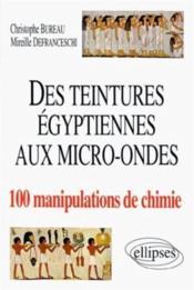 Des teintures égyptiennes à la chimie aux micro-ondes en 100 manipulations - Couverture - Format classique