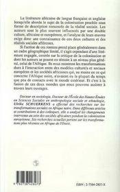 La Colonisation Dans La Litterature Africaine - 4ème de couverture - Format classique