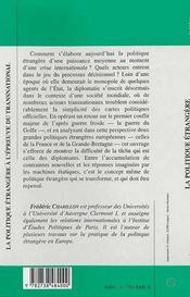 La Politique Etrangere A L'Epreuve Du Transnational ; Diplomaties Francaise Et Britannique Dans La Guerre Du Golfe - 4ème de couverture - Format classique