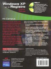 Windows XP et le registre - 4ème de couverture - Format classique
