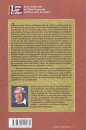 Le loisir contemporain ; essai de philosophie sociale - 4ème de couverture - Format classique