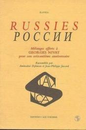 Russies Melanges Georges Nivat - Couverture - Format classique