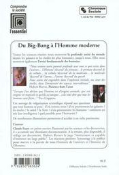 Du big bang a l'homme moderne - 4ème de couverture - Format classique