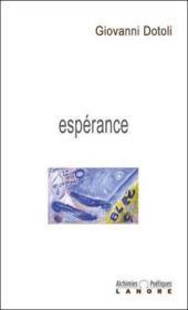 Esperance - Couverture - Format classique