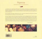 Ngenza, Ceremonie De La Connaissance - 4ème de couverture - Format classique