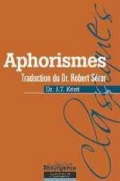 Aphorismes - Trad. Dr Robert Seror - Intérieur - Format classique
