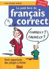 Le petit livre du français correct (édition 2002) - Intérieur - Format classique