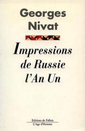 Impressions de Russie ; l'an I - Couverture - Format classique