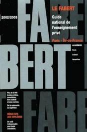 Fab.paris ile d.france 2002/03 - Couverture - Format classique