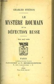 Le Mystere Roumain Et La Defection Russe - Couverture - Format classique