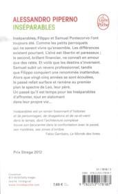 Inséparables - 4ème de couverture - Format classique