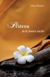 Prières de la source sacrée - Couverture - Format classique