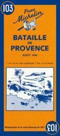 Bataille de Provence ; carte historique - Couverture - Format classique