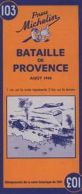 Bataille de Provence ; carte historique - 4ème de couverture - Format classique