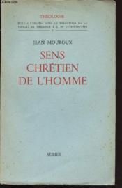 Theologie / Sens Chretien De L Homme - Couverture - Format classique