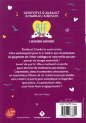 BFF ; best friends forever ! T.3 ; croisière mouvementée - 4ème de couverture - Format classique