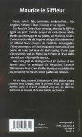 Maurice le siffleur - 4ème de couverture - Format classique
