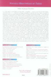 Le service public et l'exigence de qualite. volume 52 - 4ème de couverture - Format classique