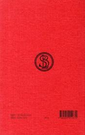Annales t.4, XIII-XVI - 4ème de couverture - Format classique