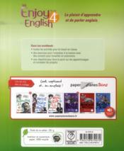 NEW ENJOY ENGLISH ; anglais ; 4ème ; A2/B1 ; workbook (édition 2014) - 4ème de couverture - Format classique