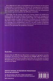 L'enseignement secondaire scientifique en France ; d'un siècle à l'autre (1802-1980) - 4ème de couverture - Format classique