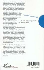 Transmettre Ou Communiquer ; Une Theorie De L'Enseignement En Tant Que Media - 4ème de couverture - Format classique