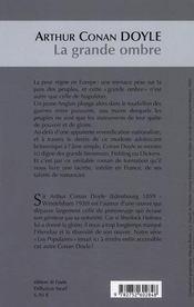 La grande ombre - 4ème de couverture - Format classique
