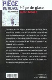 Piege De Glace - 4ème de couverture - Format classique