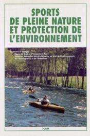 Sports De Pleine Nature Et Protection De L'Environement - Couverture - Format classique
