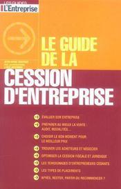Le guide de la cession d'entreprise - Intérieur - Format classique
