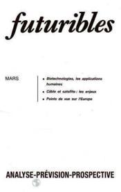 Futuribles N.108 Mars 1987 - Couverture - Format classique