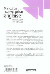 Manuel De Conversation Anglaise : Methodologie, Cas Pratiques - 4ème de couverture - Format classique