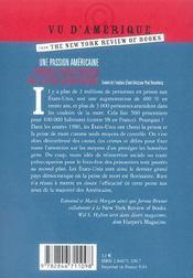 Une Passion Americaine. Prison Et Peine De Mort - 4ème de couverture - Format classique