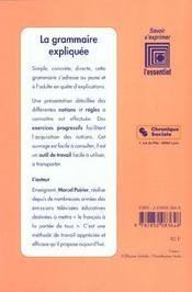 Grammaire expliquee - 2eme edition - 4ème de couverture - Format classique