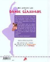 Mes Premiers Pas De Danse Classique - 4ème de couverture - Format classique