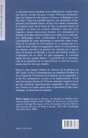 Memoires patriotiques et occupation - 4ème de couverture - Format classique