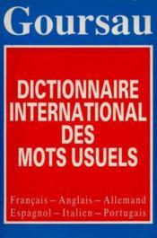 Dictionnaire européen mots usuels - Couverture - Format classique