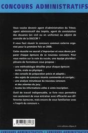Agent MINEFI ; impôts, trésor, douane - 4ème de couverture - Format classique