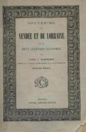 Souvenirs de vendee et de lorraine suivis de deux legendes saxonnes - Couverture - Format classique