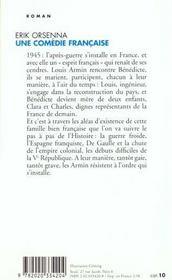 Une comedie française - 4ème de couverture - Format classique