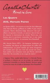 Poirot in love ; les quatre ; allô, Hercule Poirot - 4ème de couverture - Format classique