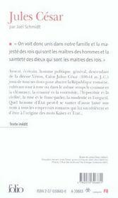 Jules cesar - 4ème de couverture - Format classique