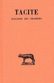 Dialogue des orateurs - Couverture - Format classique