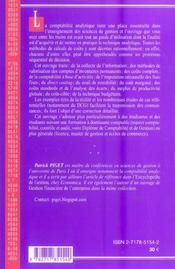 Comptabilite analytique (5e edition) - 4ème de couverture - Format classique