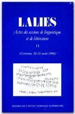 Revue Lalies N.11 - Couverture - Format classique