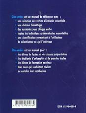 Le Dico-Verbes Allemand 400 Verbes Classes Par Themes Et Contexte - 4ème de couverture - Format classique