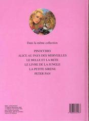 La belle et la bête - 4ème de couverture - Format classique