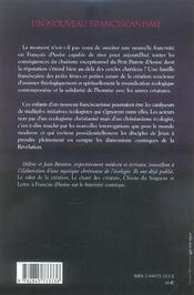 Un nouveau franciscanisme les petits freres et les petites soeurs de la creation - 4ème de couverture - Format classique